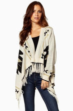 Elan Aztec Print Sweater Cardigan Sand | All Dec'd Out