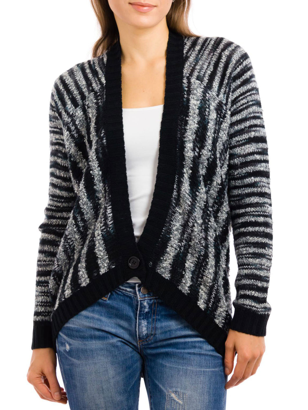 Elan | Striped Sweater Cardigan