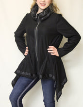 Firmiana | Zip Up Coat Black