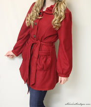 Firmiana | Button Up Coat Red
