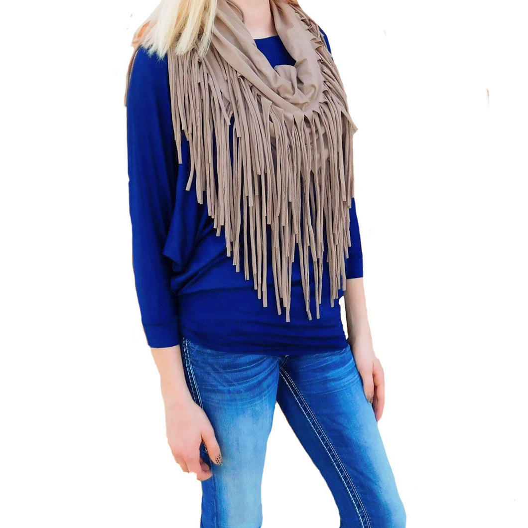 Infinity Scarf | Fringe Mocha - All Decd Out