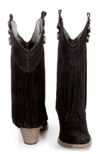 Very Volatile Hillside Fringe Cowgirl Boots Black | All Dec'd Out