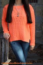 By Together | Cable Knit Sweater Orange
