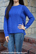 By Together | Cable Knit Sweater Blue