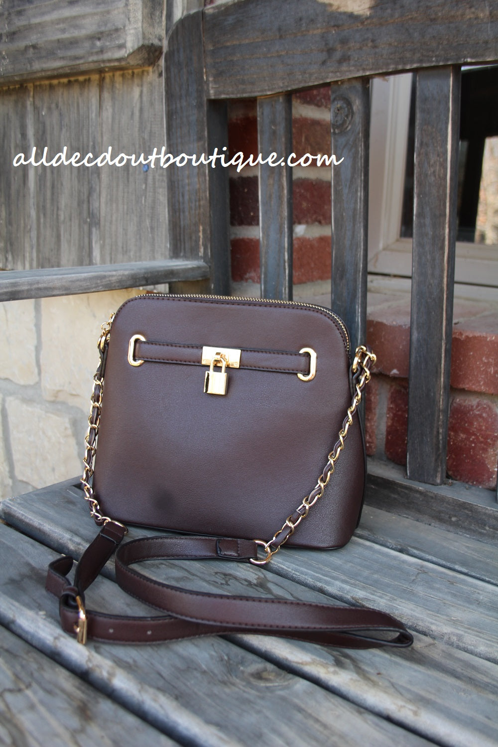 ADO | Classic Messenger Purse Brown - All Decd Out