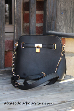 ADO | Classic Messenger Purse Black - All Decd Out