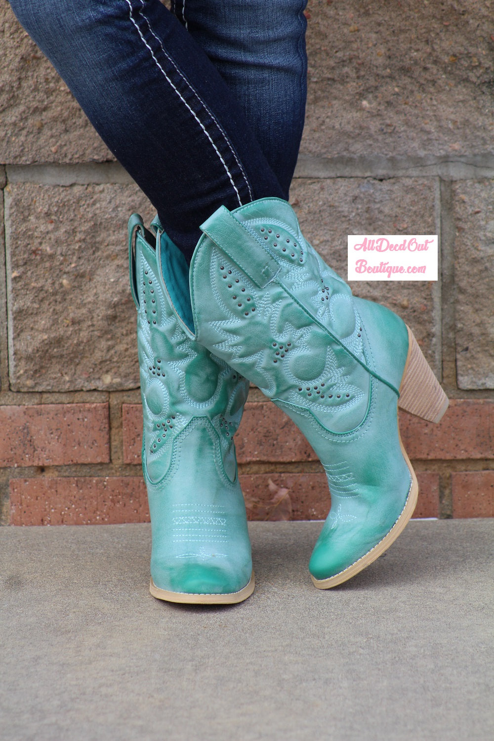 Very Volatile | Denver Cowgirl Boot Aqua Blue