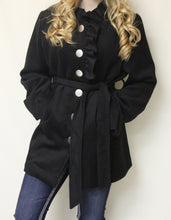 Moka Sport | Black Botton Up Coat
