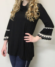 Now N Forever | Bell Sleeve & Crochet Trimming Black