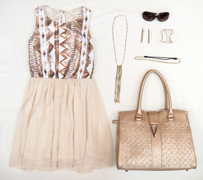 Double Zero | Sequin Dress Cream