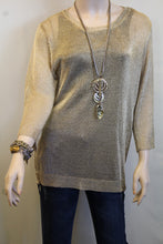 Lumiere | Metallic Sweater Gold