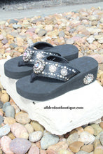 Montana West Concho Sandal Black