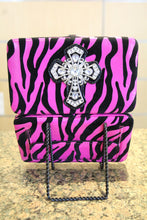 ADO | Bling Cross Zebra Print Clutch Wallet Pink - All Decd Out
