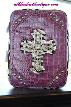 ADO | Purple and Zebra Print Embellished Bible Cover