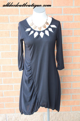 Lily | Dress with Cut Outs Black