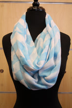 ADO | Infinity Blue and White Chevron Scarf - All Decd Out