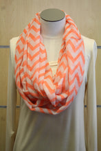 ADO | Infinity Orange and White Chevron Scarf