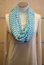 ADO | Infinity Teal and White Chevron Scarf