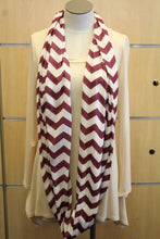 ADO | Infinity Dark Plum and White Chevron Scarf - All Decd Out