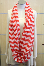 ADO | Infinity Red and White Chevron Scarf