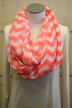 ADO | Infinity Neon Pink and White Chevron Scarf