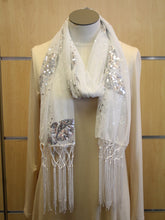 ADO | Wrap White Sequence Butterfly Scarf