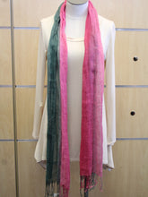 ADO | Wrap Dark Green and Pink Scarf