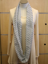 ADO | Infinity Grey and White Chevron Scarf - All Decd Out