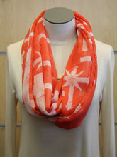 ADO | Infinity Orange/Red and White Cross Scarf