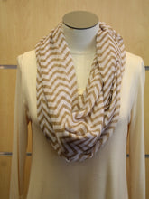 ADO | Infinity Brown and White Chevron Scarf - All Decd Out