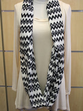 ADO | Infinity Black and White Zig Zag Scarf - All Decd Out