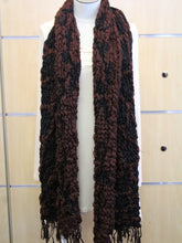 ADO | Wrap Burgundy and Black Winter Scarf