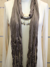 ADO | Jewelry Wrap Scarf Brown Charms