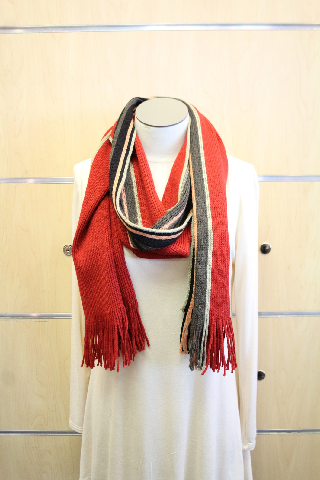 ADO | Wrap Sweater Scarf Red