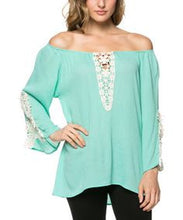 J&M | Crochet Patched Tunic Mint