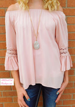 J&M | Crochet Trim Tunic Blush