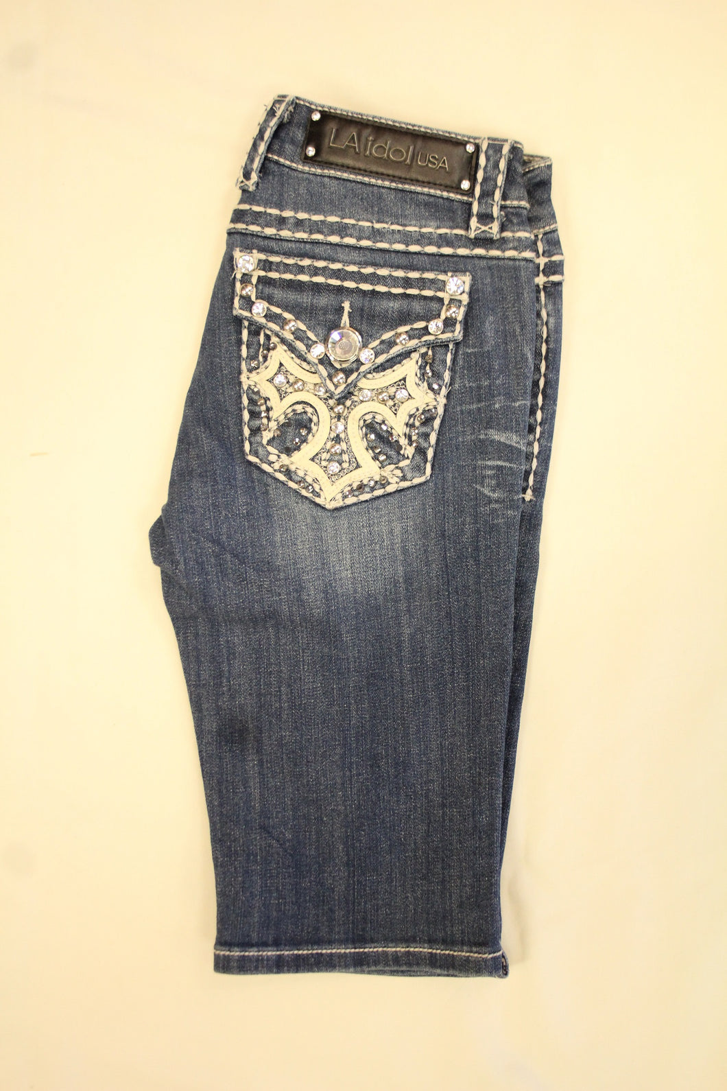 L.A. Idol | Bling Cross Pocket Bermuda Shorts
