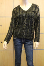 Lily | Crochet Fringe Sweater Black