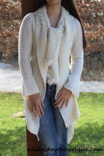 Lily | Crochet Cream Sweater Cardigan