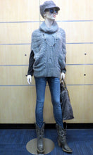 Love Stitch | Sleeveless Cowl Neck Sweater Grey