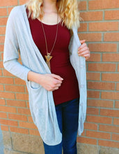 Lumiere Sheer Button Up Cardigan with Pockets Taupe | All Dec'd Out
