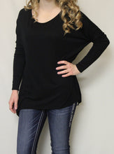 Luxe USA | Slouchy Dolman Top Black