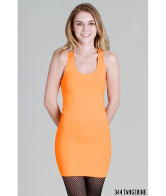NS5178 Wide Strap Long Tank Cami Tangerine