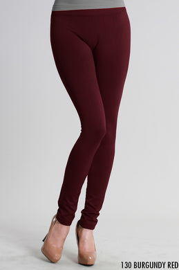 NB5100 Niki Biki Ankle Length Solid Leggings Dark Burgundy
