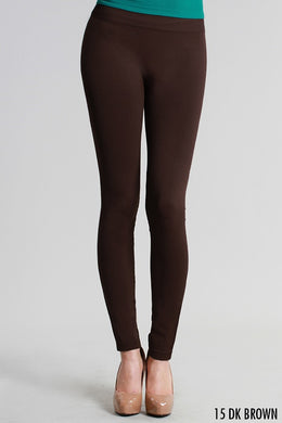 NB5100 Niki Biki Ankle Length Solid Leggings Dark Brown
