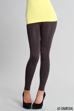 NB5100 Niki Biki Ankle Length Solid Leggings Charcoal