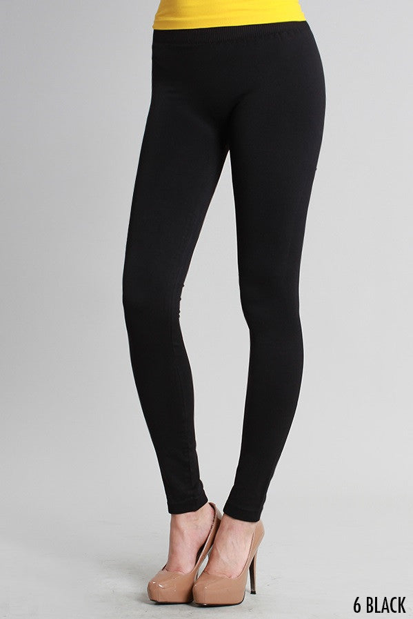 NB5100 Niki Biki Ankle Length Solid Leggings Black