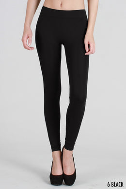 NS5182 Solid Thick Leggings Black