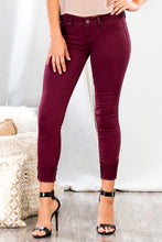 YMI Royalty For You Missy Hyper Twill Wanna Betta Butt Skinny Cranberry