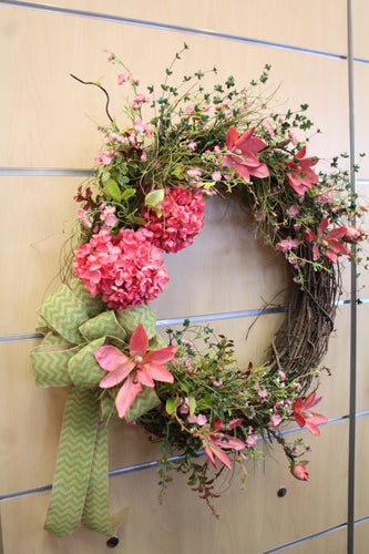 ADO | Hand-Made Custom Wreath Bright Pink